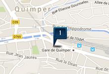 Location de voiture à la gare de Quimper